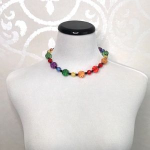 VINTAGE BEADED NECKLACE AND MATCHING BRACELETS